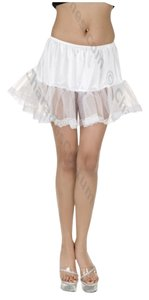 Torrid New Plus Size O/s Lace Trimmed Petticoat Halloween Costume Mini Skirt White