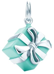 Tiffany & Co. NEW Tiffany & Co. Blue Enamel Gift Box Charm