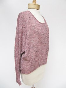 Vintage Havana Womens Gray Tweed Knit Hi Lo Sweater