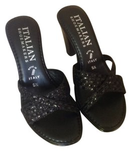 Italian Shoe Maker Black Sandals