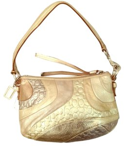 Coach Gold Metalic Wave Hobo Bag