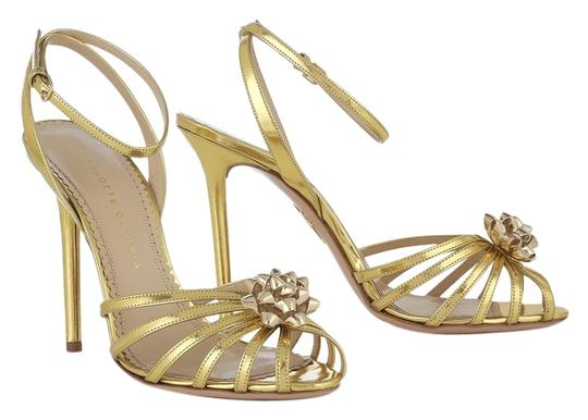 Charlotte Olympia Gold Sandals Size US