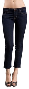 J Brand Denim Crop Pencil Leg Ankle Dark Rinse Skinny Jeans