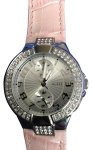 Guess Guess Women's U10580L3 Pink Leather Quartz Watch