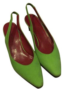 Charles Jourdan Green Wedges