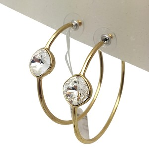 Swarofsky Crystal Gold Hoop Earrings