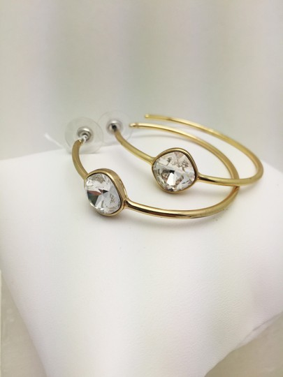 Other Swarofsky Crystal Gold Hoop Earrings