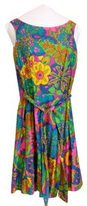 Bonwit Teller Psychadelic Mod Sixties Dress