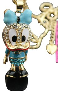 Betsey Johnson Betsey Johnson Crystal Daisy Duck Pendant Statement Necklace