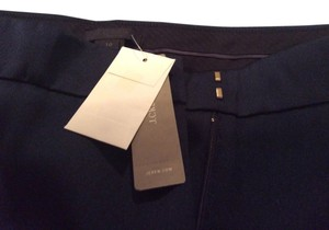 J.Crew Trouser Pants Navy blue with green, blue, and orange stripes