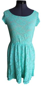Nordstrom short dress Mint and Cream Empire Waist on Tradesy