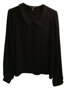 Forever 21 Top Black with gold details