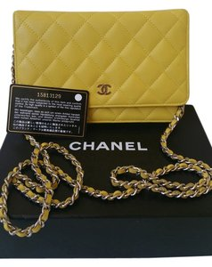 Chanel Woc Wallet Lambskin Leather Cross Body Bag