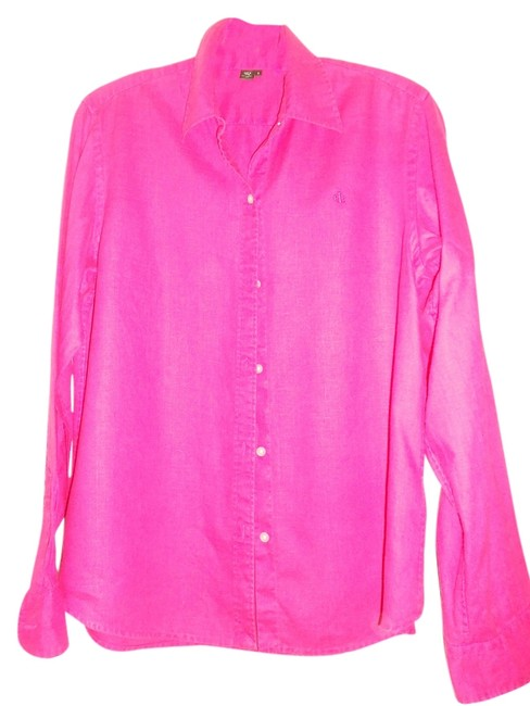 Ralph Lauren Button Down Shirt HOT PINK