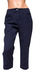 St. John Bright No Back Pockets Capris Capri/Cropped Denim-Dark Rinse