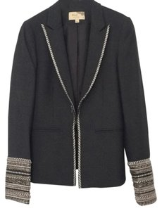 Elizabeth and James Wool Designer Grey with silver accents Blazer