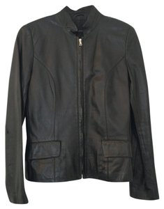 Bruno Magli black Leather Jacket