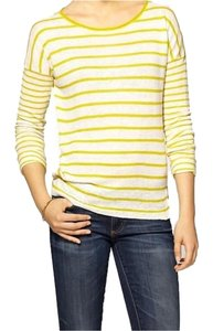 Vince Slouchy Linen Stripes Sweater