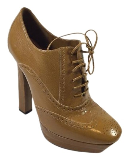 Bottega Veneta Lace Up Platform Tan Boots