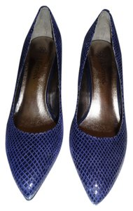J. Renee Textured Leather Navy Pumps