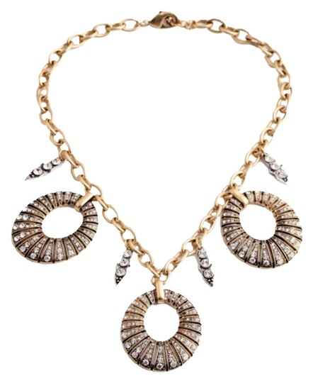 Preload https://item5.tradesy.com/images/gold-and-clear-crystals-new-pave-disc-statement-necklace-6119239-0-1.jpg?width=440&height=440