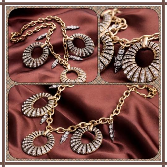 Other NEW Pave Crystal Disc Statement Necklace