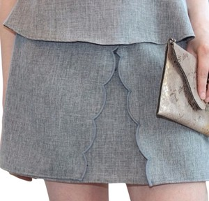 Jella Couture Mini Skirt gray