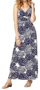 Navy and White Maxi Dress by Lilly Pulitzer Maxi Print