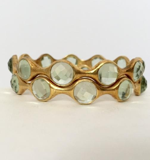 Independent Clothing Co. Light Green Quartz Gold Bangle