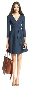 Diane von Furstenberg short dress Blue Iro Victoria Beckham Tory Burch Haute Hippie Black Halo Denim Shirt Small S Alice + Olivia Derek Lam Rag & Bone Wang on Tradesy