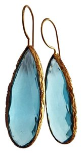 Independent Clothing Co. Faceted Sky Blue Quartz Gemstone Earrings