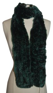 Belle Fare Belle Fare New with tags green rabbit fur scarf