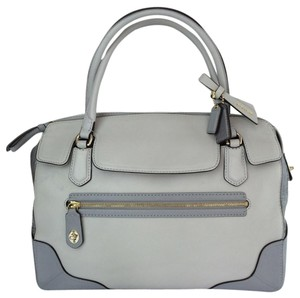 Coach Poppy 25703 Satchel in colorblock gray tones