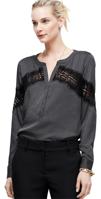 Preload https://item5.tradesy.com/images/ann-taylor-black-and-white-blouse-size-12-l-6123604-0-0.jpg?width=400&height=650