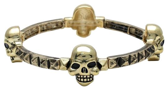 Other Vintage Antique Gold Retro Chic Stretchable Skullz Bracelet Halloween Party Jewelry Accessory