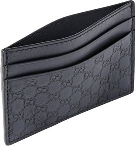 ee0c4184fd19 Gucci Blue Embossed Leather Cardholder Wallet - Tradesy