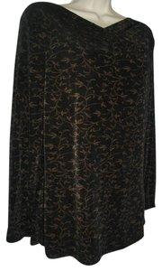 Carole Little Brown Floral Carole Little 6 8 Pullover Skirt Set