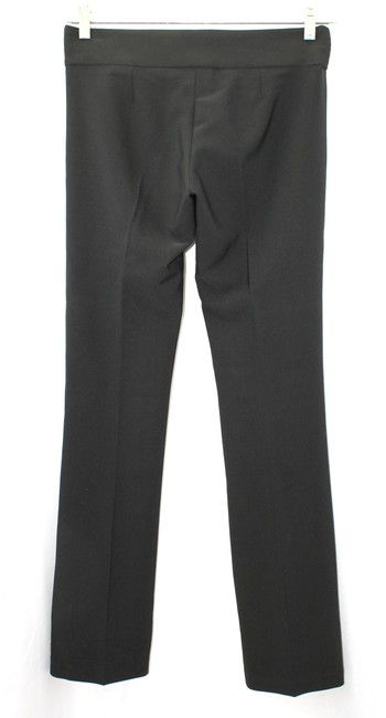 Sharagano Faux Leather Stretchy Straight Pants BLACK