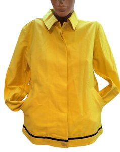 Versace Vintage Vintage By Gianni Yellow Womens Jean Jacket