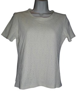 Anne Klein Lace Short Sleeves Pullover Sweater