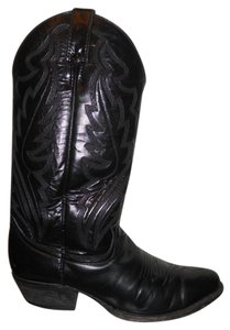 Justin Leather Western Men's black Boots