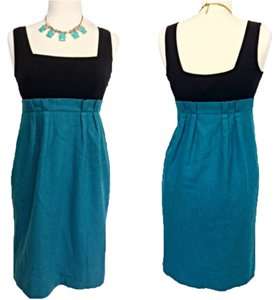 Diane von Furstenberg short dress Black, Teal on Tradesy