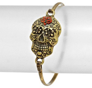 Other Vintage Antique Gold Retro Chic Hook Skull Bracelet Halloween Party Jewelry Accessory
