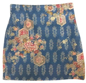 Zara Mini Skirt Blue/Multicolor
