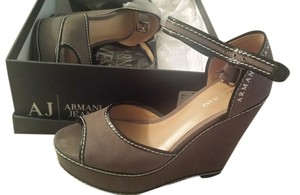 Armani Grey Wedges