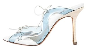 Jimmy Choo White and Blue Sandals