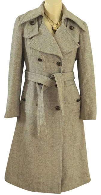 Ruby Martin Vintage Herringbone Vintage Double Breast Wool Vintage Vintage Herringbone Wool Vintage Trench Coat