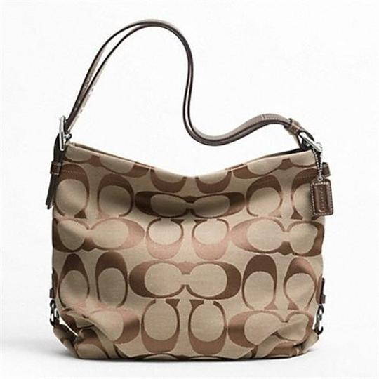 Coach New With Signature Leather Silver Hardware Shoulder Bag