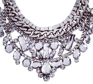 New Crystal Statement Bib Necklace