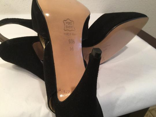 Bally All Leather Footstrap Slingback Italian Pumps